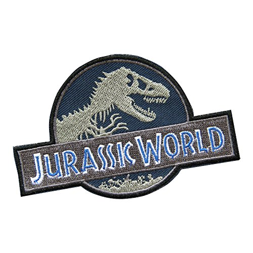 Jurassic World Badge Patch Jurassic Park Embroidered Iron on Patch Sew on Patches Iron on Applique]()