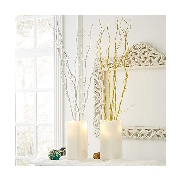 BrylaneHome-Set-of-5-Cordless-Pre-Lit-Shimmer-Branches-with-Timer