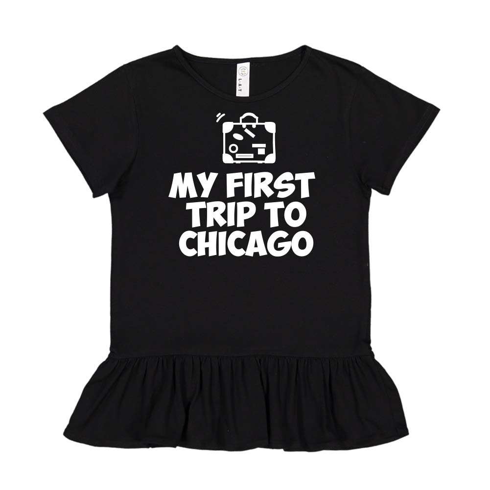 Toddler//Kids Ruffle T-Shirt Mashed Clothing My First Trip to Chicago