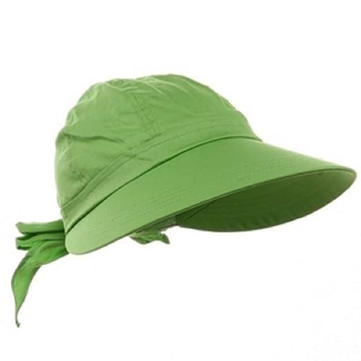 Lime Green Wide Brim Peak Gardening Sun Hat at Amazon Women\'s ...