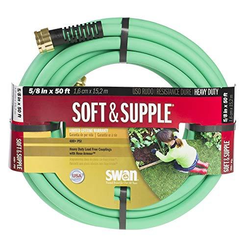 Swan Hose SNSS58050 5/8'' x 50' Soft & Supple Garden Hose