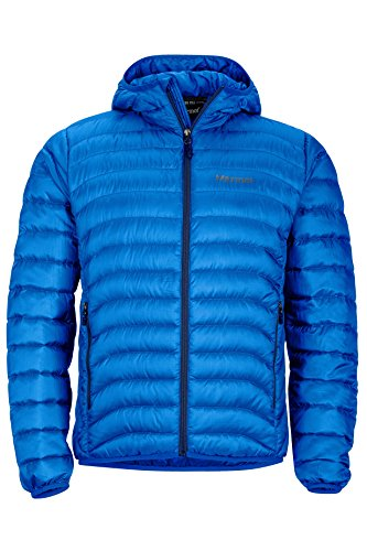 Mens Puffer (Marmot Tullus Hoody Men's Winter Puffer Jacket, Fill Power 600, True Blue, X-Large)