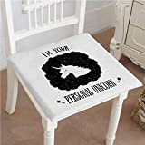 Mikihome Outdoor Chair Cushion Home and Phrase in Pure Black White Comfortable, Indoor, Dining Living Room, Kitchen, Office, Den, Washable 16''x16''x2pcs