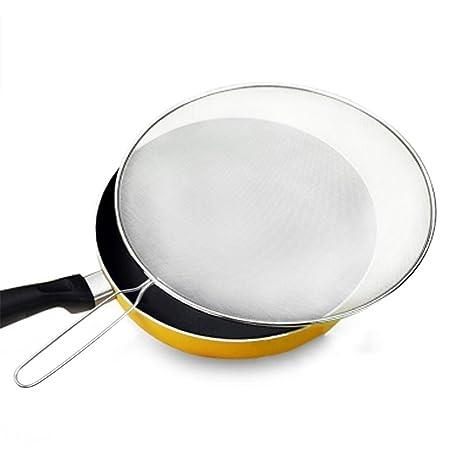 Salpicaduras Protector de pantalla soporte de malla colador, tapa antisalpicaduras para cocina protege la piel