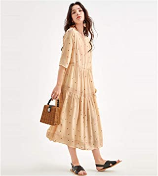 Vestido Vestido de Novia Falda Larga Vestido de Seda Pequeño ...
