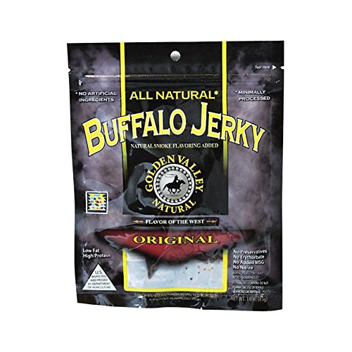 Golden Valley Natural Buffalo Jerky Low Fat Original -- 3 (Golden Valley Natural Jerky)