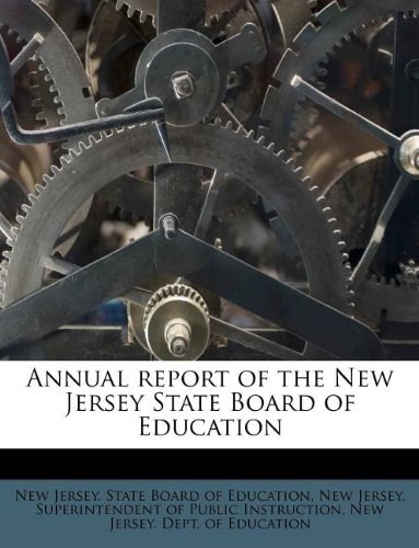 Annual report of the New Jersey State Board of Education pdf epub