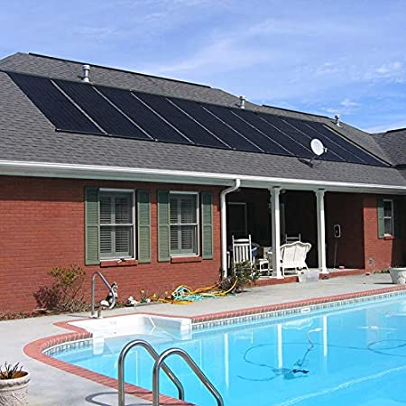 front facing XtremepowerUS solar pool heaters