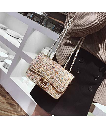 En Werng Petite Laine De Petit Sacs Boucle Sac Carré Main Coréenne White Parfum Mode Chaîne Unique Dames À Épaule Sauvage Simple FwFpZrq