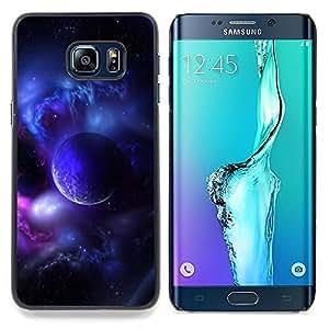 """Planetar ( Purple Planet Universo Luna Galaxy estrella Nube"""" ) Samsung Galaxy S6 Edge Plus / S6 Edge+ G928 Fundas Cover Cubre Hard Case Cover"""