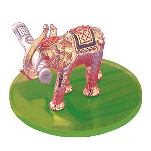 - Good Luck Lotto Elephant to Attract Good Luck and Wealth Figurine with Red SWAROVSKI CRYSTAL EYES and a Green Acrylic Disk Made in USA