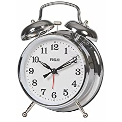 RCA Quartz Classic Analog Alarm Clock for your Bedside Table, Desk, or Study
