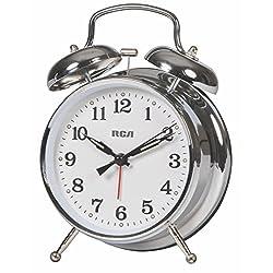 RCA Alarm Clock for Bedside Table, Desk or Study (Large Analog Alarm Clock)