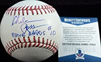 """Beckett-BAS Autographed Signed MLB Baseball by Chelcie Ross Inscribed """"Up Your Butt Jobu"""" Major League Movie"""