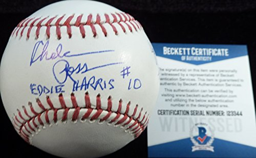 Beckett-BAS Autographed Signed MLB Baseball by Chelcie Ross Inscribed