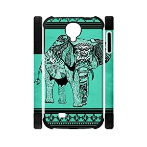 Canting_Good Elephant aztec tribal Custom Dual-Protective Case Shell Skin for Samsung Galaxy S4 I9500 3D