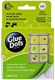 double sided tape non permanent - Glue Dots Removable Adhesive Dot Roll, Contains 200 (.5 Inch) Diameter Dots (08248)