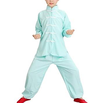 besbomig Tradicional Ropa Tai Chi Uniformes Niños Adulto - Traje de Kung Fu Artes Marciales Completa Kimono para Mujer Hombre Niño Niña