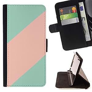 - Queen Pattern FOR Sony Xperia Z3 D6603 /La identificaci????n del cr????dito ranuras para tarjetas tir????n de la caja Cartera de cuero cubie - teal pink line clean minimalist pa
