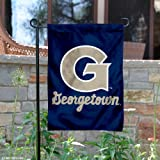 Perfect for your garden or home entrance is our Georgetown Hoyas Garden Flag and Yard Banner! This double sided college garden flag measures a large 13x18 inches, has a double-stitched border, a 1 inch top sleeve, and is made of 2 ply polyest...