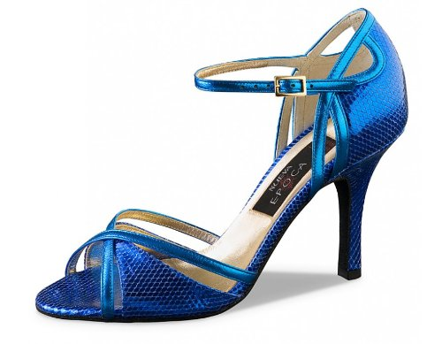 Werner Kern Nueva Epoca Womens Angeles 8.0 Texture Leather 9 Blue