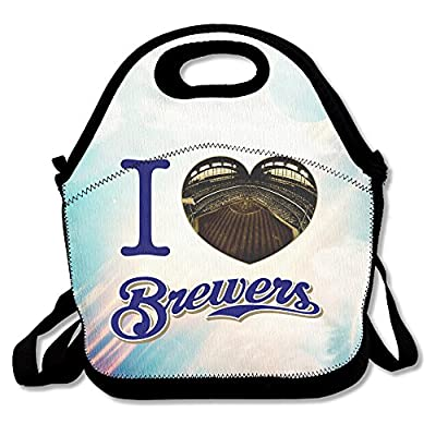 Bakeiy I Love Milwaukee Lunch Tote Bag Lunch Box Neoprene Tote For Kids And Adults For Travel And Picnic School