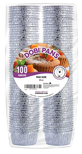Baked Custard Pie - DOBI Ramekins - Disposable Aluminum Foil Ramekins, Standard Size - 4 oz. (Pack of 100)
