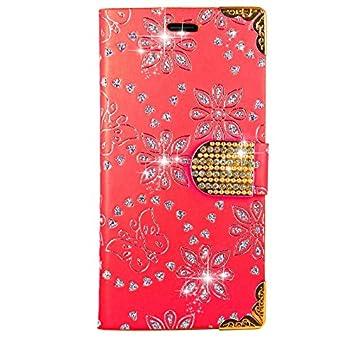 Motorola Moto C Plus Handy Tasche FoneExpert/® Wallet Case Cover Bling Diamond H/üllen Etui H/ülle Ledertasche Lederh/ülle Schutzh/ülle F/ür Motorola Moto C Plus