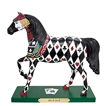 Enesco The Trail of Painted Ponies Black Jack Painted Harmony Figurine