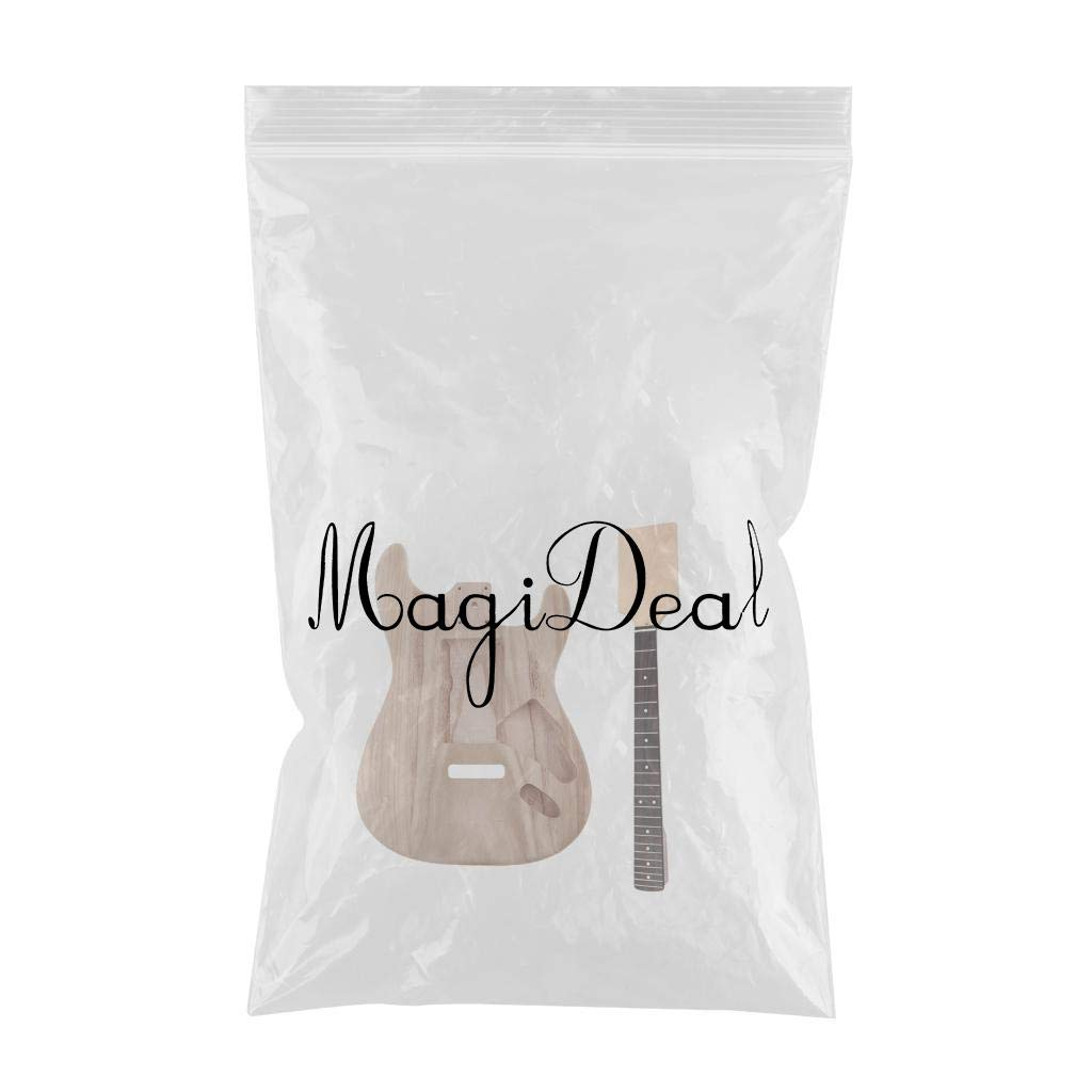MagiDeal Exquisite Wood Unfinished Guitar Body + Neck Fretboard for Fender ST Electric Guitar DIY Parts by non-brand (Image #3)