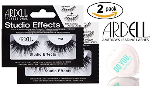 Ardell Professional STUDIO EFFECTS Custom Layered Lashes, 2-pack (with Sleek Compact Mirror) (231 (2-pack)) (Professional Effects)