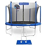 SONGMICS Outdoor Trampoline 14-Feet for Kids with Basketball Hoop and Backboard Enclosure Net Jumping Mat and Safety Spring Cover Padding TÜV Rheinland Certificated According to ASTM and GS USTR14BU
