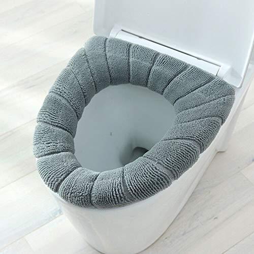 Hwjmy 1 Stks dikker warm pompoen patroon wc-bril deksel ronde vorm pure kleur toilet stoel cover voor toilet (kleur…