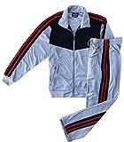 Athletic Men's Warmup Jogging Mode Jogger Essentials Set (Grey, 2XL)