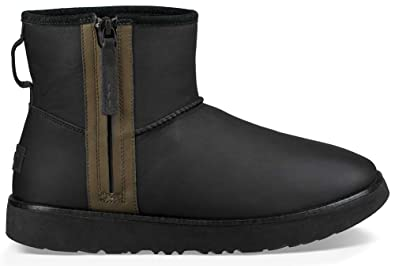 Ugg Mens Classic Mini Zip Waterproof Rain Boot Black Size 12