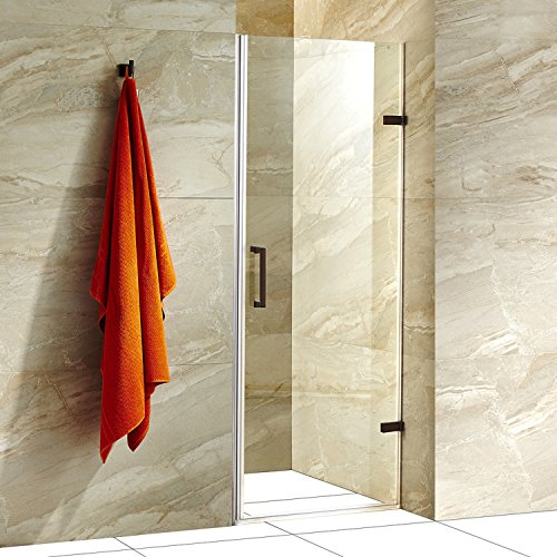 Cheap vigo soho 28 to 28 5 in adjustable frameless shower for Discount frameless shower doors