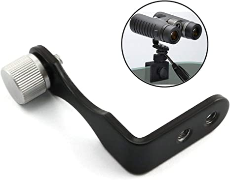 Binocular L Shaped Adapter Mount for Tripods