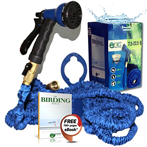 Best 75 FT Expandable Garden Hose 100% Brass Fittings & 8 Function Spray Nozzle by Dignitree®, Kink & Tangle Free, High-Quality Double Wall Layer Latex Durable Core, 3/4'' USA Standard Connector
