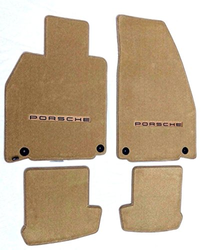 2017 Porsche Carrera - Lloyd Mats Part Compatible with Porsche 911(991) - Cabriolet Carrera 2012-2017 Tan (Sand) Custom Fit Carpet Floor Mats W/ PORSCHE Logo on Fronts