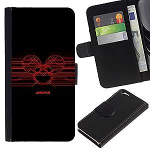 Stuss Case / Funda Carcasa PU de Cuero - Red Deadmaus - Apple Iphone 6