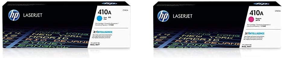HP 410A | CF411A | Toner Cartridge | Cyan & 410A | CF413A | Toner Cartridge | Magenta