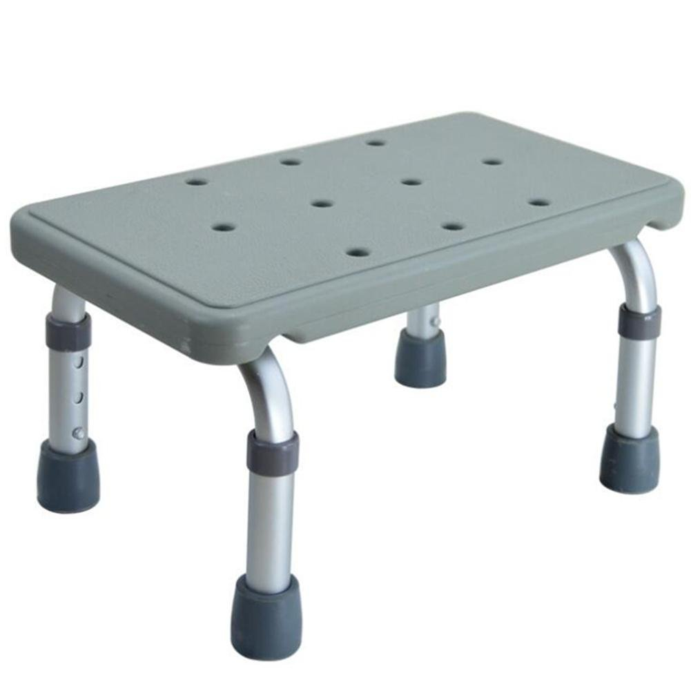 Amazon.com: Height Adjustable rectangle Shower Stool Elderly ...