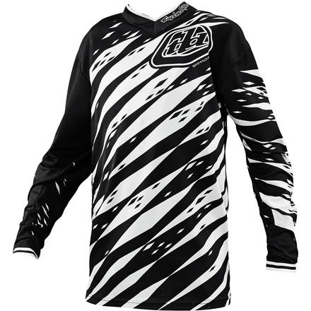 Troy Lee Designs GP Vert Boys Motocross/Dirt Bike Motorcycle Jersey - White/Black / Medium