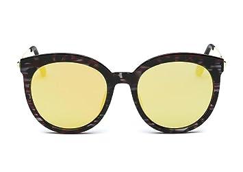 ZHLONG Gafas de sol polarizadas grandes caja retro gafas de sol redondas de las mujeres ,