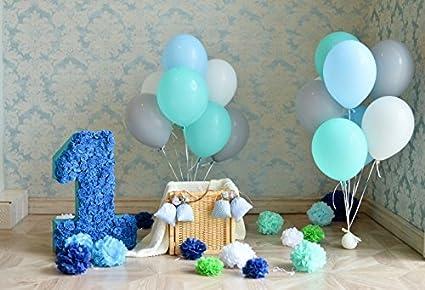 Yeele 7x5ft Girl Boy One Year Old Birthday Backdrop Balloon Digital Banner Decoration Photography Background Baby