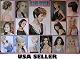 Womens celebrity hairstyles POSTER #A 34 x 23.5 hair style guide salon friendly mugshots