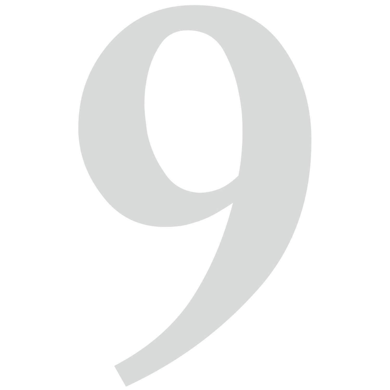 T/ür I wetterfest I kfz/_471/_9 Briefkasten 9 in schwarz I H/öhe 10 cm I selbstklebende Haus-Nummer Zahlen-Aufkleber Nr Ziffer zum Aufkleben f/ür Au/ßen
