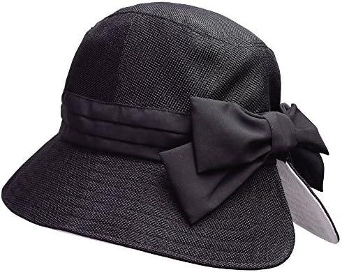 顔周り華やか帽子 ブラック