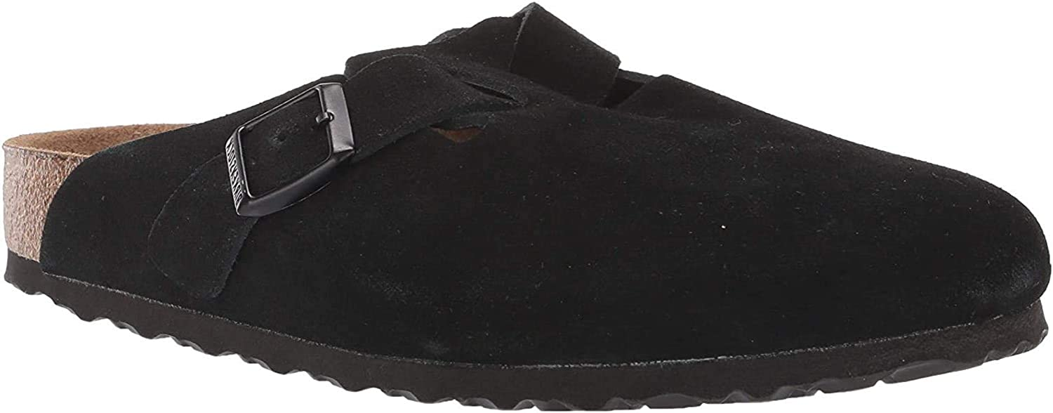 Birkenstock Boston Oiled Nubuck Leather Black Size EU 45 / US M12 Narrow