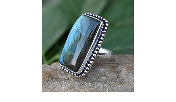 Free Shipping Faceted Labradorite Gemstone Handmade 925 Sterling Silver Ring For Her SR-308 Rings